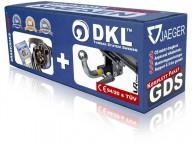 Avtagbar dragkrok horisontell - DKL Towbar System